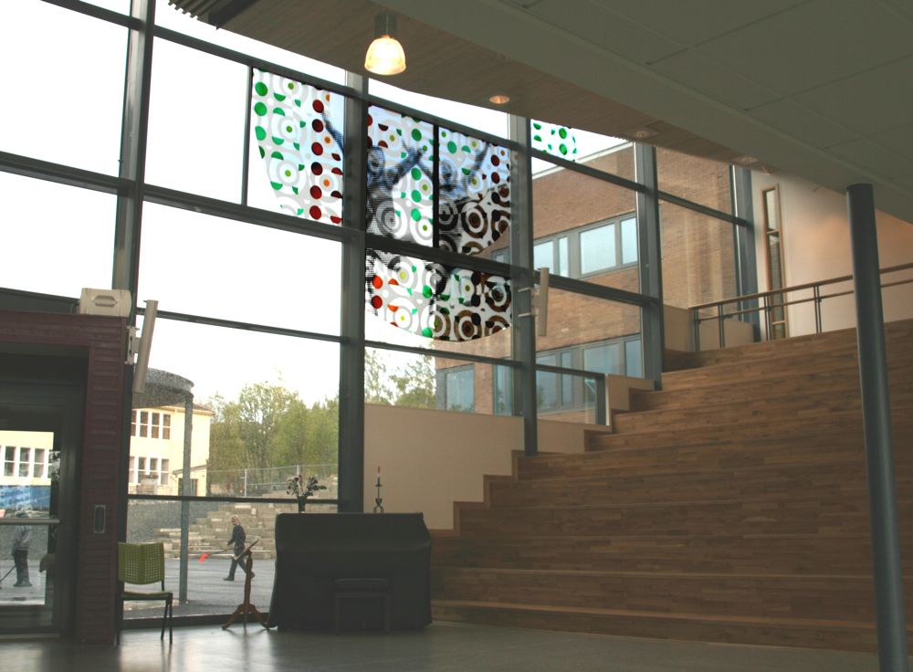 Byåsen school, inside the assembly hall