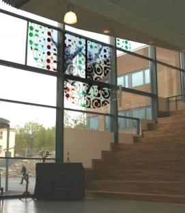 Byåsen school, inside the assembly hall
