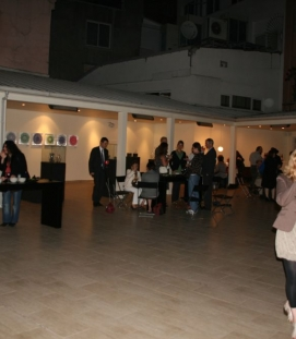 Exhibition opening at Bir Nokta, Istanbul 26 may 2011